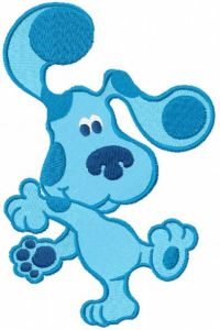 Blues Clues dancing embroidery design