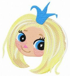 Blushing princess embroidery design