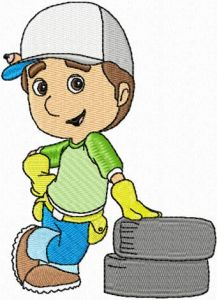 Handy Manny 5 embroidery design