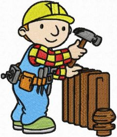 Bob the Builder plumber embroidery design