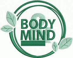 Body and mind embroidery design