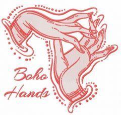 Boho hands embroidery design