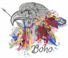 Boho embroidery design