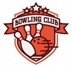 Bowling club 3 embroidery design