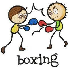 Boxing embroidery design