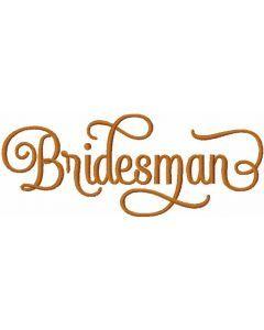 Bridesman free embroidery design