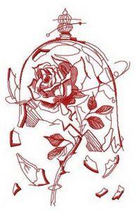 Broken dome embroidery design