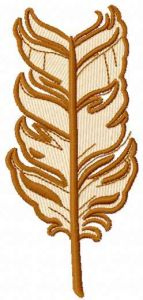 Brown feather embroidery design