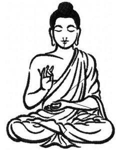 Buddha 2 embroidery design
