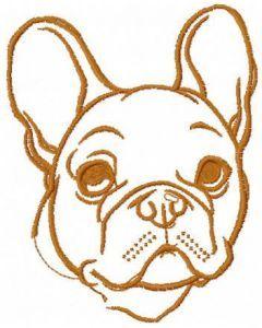 Bulldog sketch embroidery design free