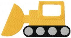 Bulldozer free embroidery design
