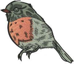 Bullfinch embroidery design 3