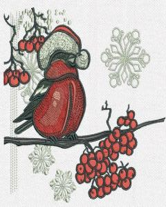 Bullfinch machine embroidery design