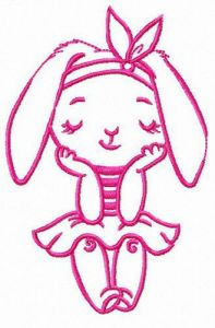 Bunny girl free embroidery design 5