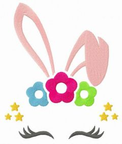 Bunny mask embroidery design