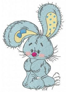 Bunny the florist embroidery design 3