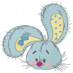 Bunny the florist embroidery design 4