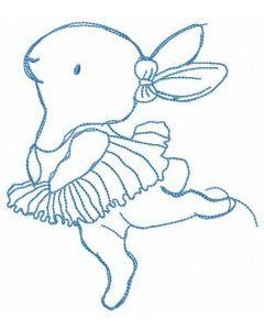 Bunny's ballet embroidery design