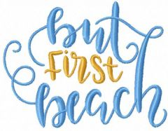But first beach embroidery design