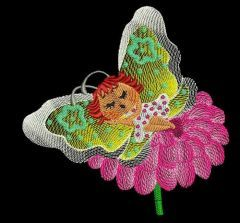 Butterfly Baby embroidery design