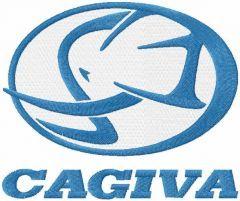 Cagiva logo embroidery design