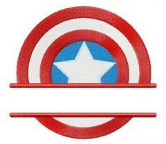 Captain America's shield strength badge embroidery design