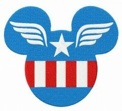 Captain Mickey embroidery design 2