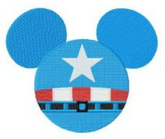 Captain Mickey embroidery design