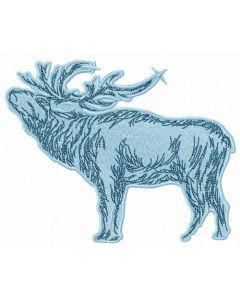 Caribou embroidery design