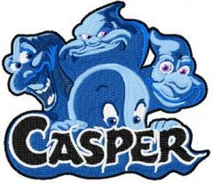 Casper and Ghostly Trio embroidery design