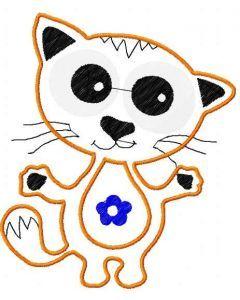 Cat applique 9 embroidery design