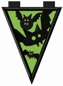 Caution: bats embroidery design