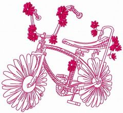 Chamomile bicycle embroidery design 2