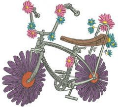Chamomile bicycle embroidery design