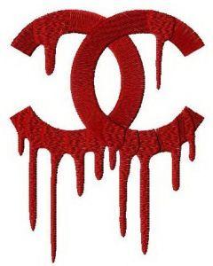 Chanel drip logo machine embroidery design