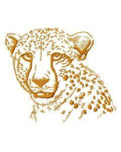 Cheetah 5 embroidery design