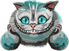 Cheshire Cat 4 embroidery design