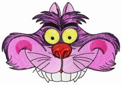 Cheshire cat hat embroidery design
