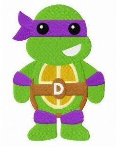 Chibi Donatello embroidery design