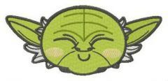 Chibi Master Yoda head embroidery design