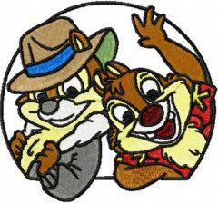 Chip & Dale 3 embroidery design
