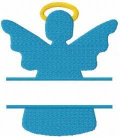 Christmas angel monogram free embroidery design