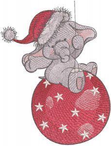 Christmas circus embroidery design