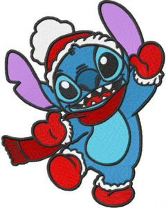 Stitch Christmas dance embroidery design