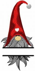 Christmas dwarf monogram embroidery design