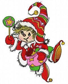 Christmas elf 4 embroidery design