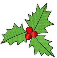 Christmas leaves 12 embroidery design