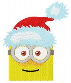Christmas Minion 4 embroidery design