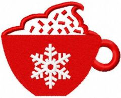 Christmas red cup free embroidery design