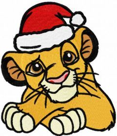 Christmas Simba embroidery design